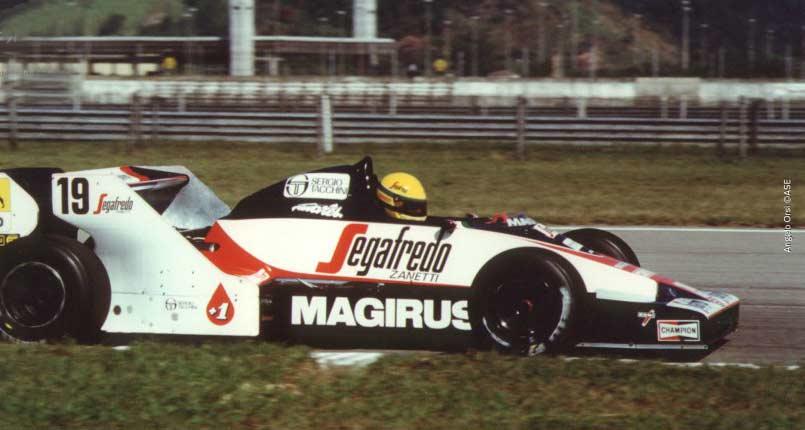 Ayrton Senna in Brasil in 1984