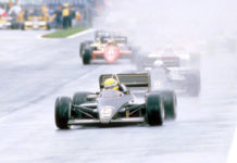Ayrton Senna in Estoril in 1985