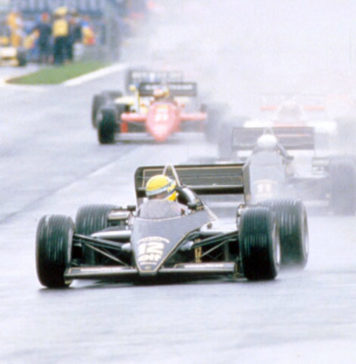 Ayrton Senna in Estoril in 1985