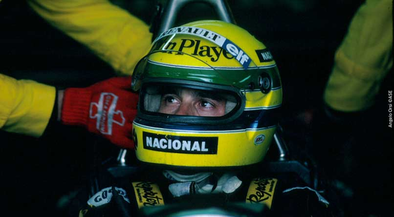 Ayrton Senna at Austria in 1986